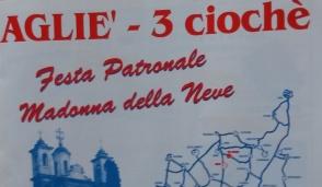 """Ai """"3 ciochè"""" si festeggia la Madonna della Neve"""