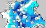 Temporali molto forti: pioggia record in Canavese