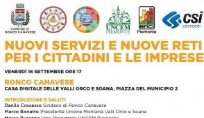 A Ronco si discute di servizi e reti per i cittadini