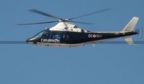 Elicotteristi di Volpiano in azione a Torino in una maxi operazione dei carabinieri