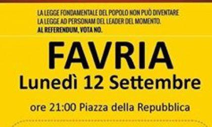 Il Movimento 5 Stelle in piazza a Favria