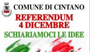 Referendum, incontro il 4 ottobre a Cintano