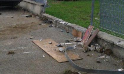 Con l'auto distrugge cartello stradale e muretto
