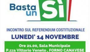 Incontro sul referendum il 14 a Forno
