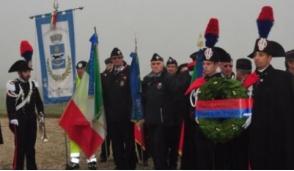 Cerimonia in ricordo dei carabinieri morti in elicottero