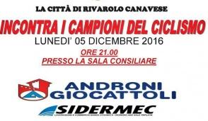 Ciclismo: l'Androni Sidermec a Rivarolo