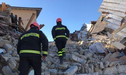 I Vigili del fuoco del Canavese hanno trascorso il Natale in centro Italia