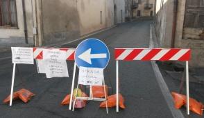 Valperga, viabilità modificata per lavori in corso