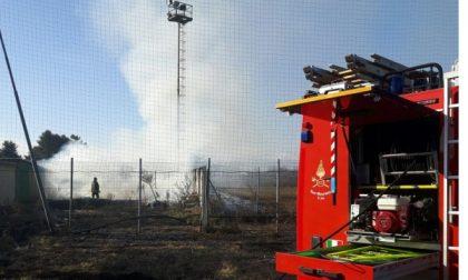 """Incendio al campo sportivo """"Frassati"""""""