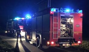 Incendio legnaia in via Vigna
