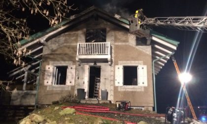 Levone: casa inagibile dopo l'incendio