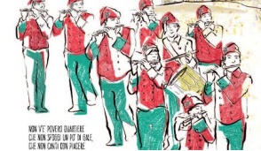 Pifferi e Tamburi icona del manifesto  per l'edizione 2017 del Carnevale di Ivrea