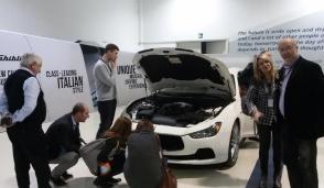 """Il Gam di Confindustria in """"gita"""" a Grugliasco per scoprire i segreti della Maserati"""