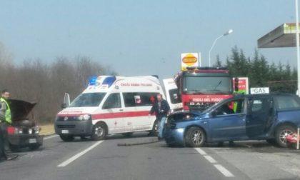 Tre auto coinvolte questa mattina in un incidente