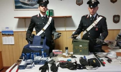 Un arsenale nel garage: arrestato