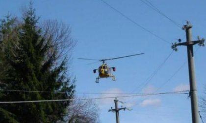 Monitoraggio  aereo delle linee elettriche da parte dell'Enel