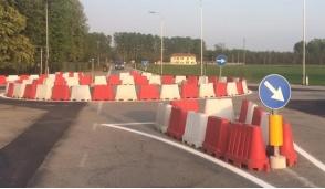 Terminata la rotonda provvisoria all'incrocio tra la provinciale e la circonvallazione