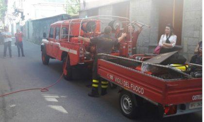 Incendio in un alloggio in centro a Castellamonte