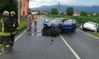 Ciriè: scontro frontale in via Robassomero, tre i feriti