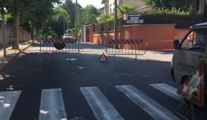 Temporaneamente chiuso un tratto di viale Matteotti