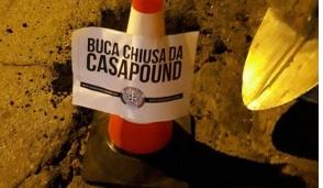 CasaPound contro le buche sulle strade