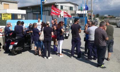 Dipendenti in agitazione alla Costantino di Favria