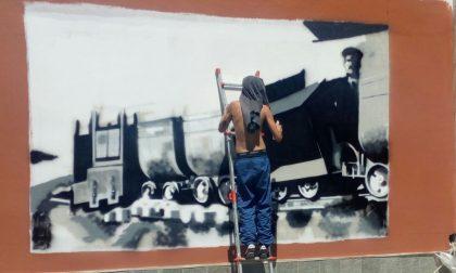 Graffittari alla fiera di Cantoira: ecco le opere che stanno realizzando