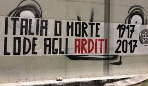 """""""Italia o morte. Lode agli Arditi 1917 – 2017"""":  blitz di CasaPound"""