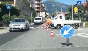 Ricollocati i dossi in via Torino a Cuorgnè
