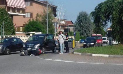 Scontro tra uno scooter ed un'auto a Leini