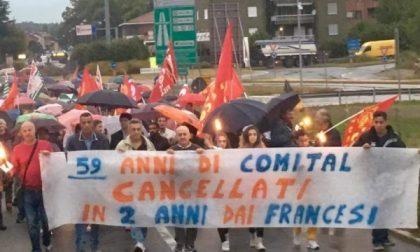 A Volpiano lavoratori e cittadini in marcia per la Comital