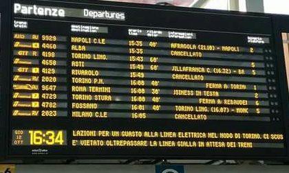 Disagi e ritardi sui treni in arrivo da Torino
