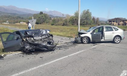 Pauroso incidente in strada per Ivrea