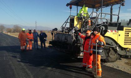 Favriasca nuovo asfalto sulla Provinciale per Front