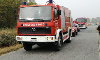 Incendio frazione Vesignano a Rivarolo