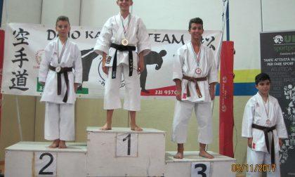 Karate Rivara Busano atleti sul podio