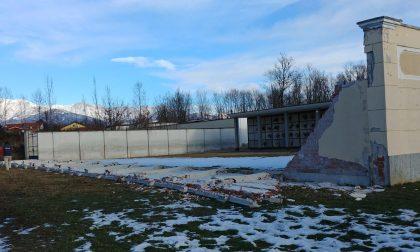 Crolla  muro cimitero a Fiano