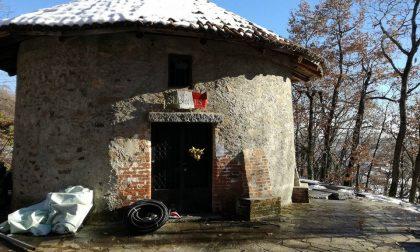 Comune e Alpini sistemano il sagrato di San Biagio