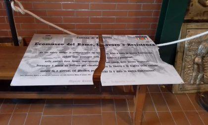 Sfregiata targa dell'ecomuseo