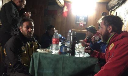 Tecnico bloccato in montagna salvato dal Soccorso Alpino