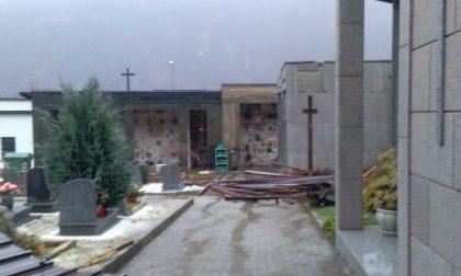 Sparone cimitero riaperto dopo il maltempo