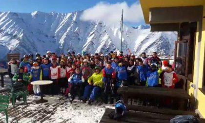 Alunni sulla neve con lo Sci Club Monasterolo