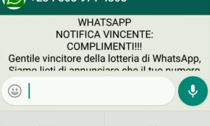 Lotteria Whatsapp, attenzione all'ennesimo falso