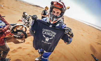 Ugo Peila tra le dune sulle piste del deserto