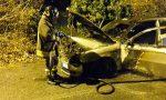Mathi, un'altra auto in fiamme