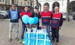 Piazza Martiri tinta d'azzurro contro gli abusi