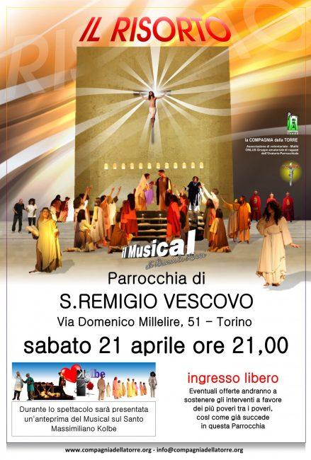 """Compagnia della Torre in scena a Torino con il musical """"Il Risorto oltre il dolore e la croce"""""""