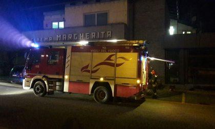 Principio di incendio al cinema Margherita di Cuorgnè