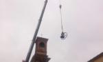 Rimosse le campane della parrocchia a Leini