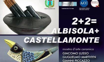 2+2=Albisola+Castellamonte tutto pronto per inaugurazione mostra